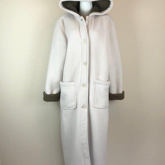 Sandro Teddy Fleece Maxi Coat with Hood